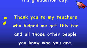 kindergarten graduation song with lyrics karaoke sing along