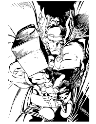 marvel comics thor superhero coloring page h u0026 m coloring pages