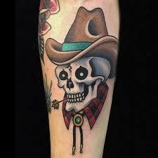 10 daring cowboy skull tattoos tattoodo