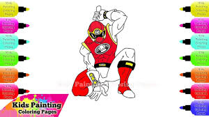 draw red ranger power rangers ninja storm drawings