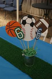 Ideas For Centerpieces For Birthday Party by Best 25 Sports Centerpieces Ideas On Pinterest Sports Baby
