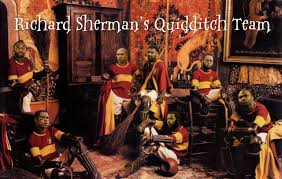 spirit halloween sherman tx richard sherman names his seven man quidditch squad made up of