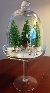 my retro christmas mini diorama glass cupcake dome from tj maxx