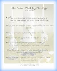 wedding blessings the seven wedding blessings journeying soul