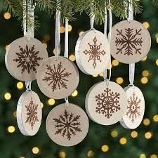 snowflake ornaments wooden metallic snowflake ornaments set of 8 snowflake