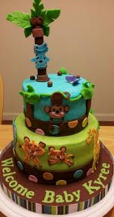 jungle baby shower cakes jungle safari animals baby shower cake my creations