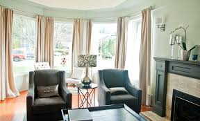 Window Treatment Ideas For Living Room by Window Treatment Ideas For Bay Windows Set With Curtains