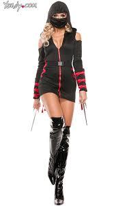 Ninja Costumes Halloween Ninja Costume Black Red Ninja Costume Hooded