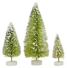 foster vintage bottle brush trees traditions