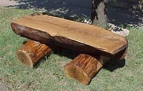 Rustic Log Benches - large log bench