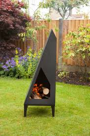 halloween chiminea made o u0027 metal steel modern art garden patio chimenea chimney