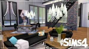 the sims 4 speed build city living industrial loft apartment