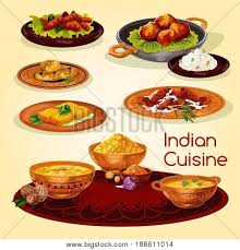 indian cuisine dinner dishes vector photo bigstock