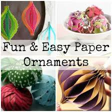 easy paper ornaments small home