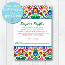 raffle baby shower mexican raffle ticket
