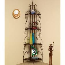 rosalind wheeler 4 tier metal corner baker u0027s rack in goldish