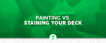 is it better to paint or stain your kitchen cabinets paint or stain which is better for your deck