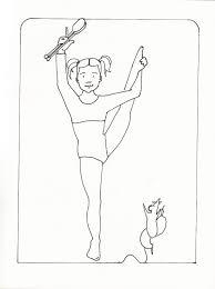 printable gymnastics coloring pages 100 gymnastic coloring pages gymnastics clipart color pages