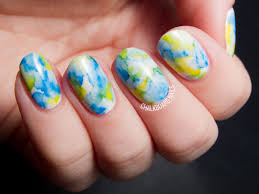 the easiest nail art ever sharpie marbled gel nails gel nail