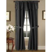 Black Curtains With Valance Curtains With Attached Valances