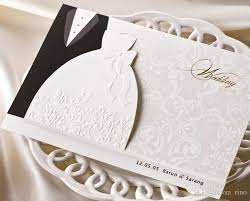 personalized cards wedding personalized wedding invitations cards traditional tuxedo dress