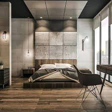industrial modern design industrial interior design bedroom different shades of grey are used