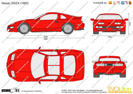 nissan 300zx the blueprints com vector drawing nissan 300zx