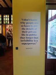 Banksy quote on the wall Picture of Moco Museum Banksy & more