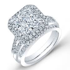 princess cut 3 engagement rings one of a cathedral halo wedding sets wit floating