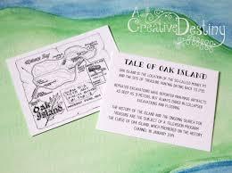 Map Wedding Invitations Oak Island Treasure Wedding Creative Destiny Stationery Design