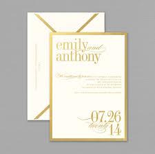 gold wedding invitations vera wang gold bordered wedding invitation