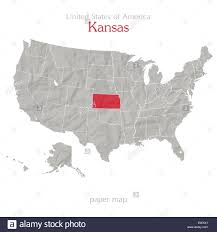 America States Map by United States Of America Map And Kansas Territory On Textured