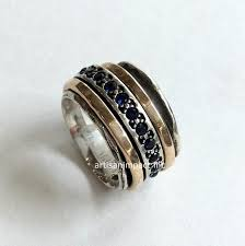 mothers infinity ring mothers ring gold silver band blue sapphire ring infinity ring