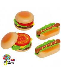 cuisine jouets hape cuisine hamburgers et hotdogs jouet en bois enfant 3 ans