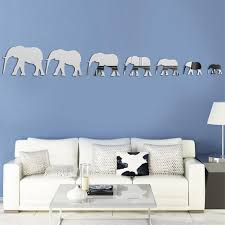 silver mirror wall stickers elephant mirror wall decal mosaic room 7pcs set silver mirror wall stickers elephant mirror wall decal mosaic room decoration for living room