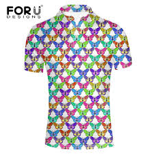 forudesigns creative butterfly puzzle print s polo shirt brand