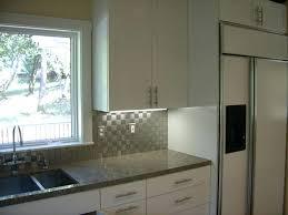 steel tiles backsplash kitchen white textured subway tile also