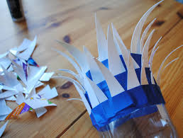 Blue Bottle Chandelier by Diy Make An Amazing Feathery Holiday Lantern With Recycled Yogurt
