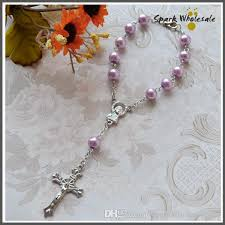 pearl rosary 2017 religious gifts pearl rosary children s communion baby s