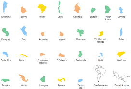 Latin America Map Countries by Geo Map South America El Salvador