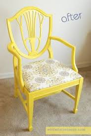 Diy Armchair How To Make Chair Cushions Yellow Patterned For One Side And