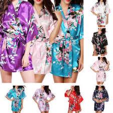 kimono robe de chambre femmes satin japonais paon kimono robe de chambre peignoir