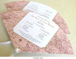 fan program vintage map wedding program fan wedding cruise imbue you