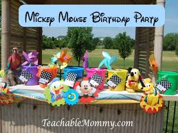 luau table centerpieces mickey mouse clubhouse luau birthday party teachable