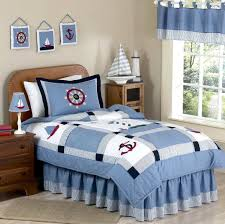 Nautical Bed Set Retro Walnut Wood Size Bed Decor With Nautical Bedding Sets
