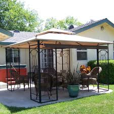 patio gazebo canopy replacement canopy for arrow gazeb riplock 350 garden winds