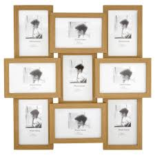 light wood picture frames wilko light wood effect multi aperture photo frame9 x 6 x 4in at