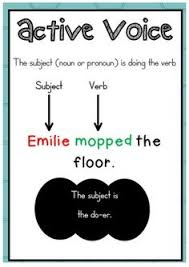 active and passive voice charts and worksheets sentence