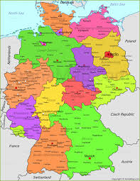 map of gemany germany map germany political map annamap