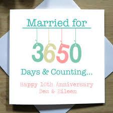 10th wedding anniversary personalised handmade 10th wedding anniversary card tin tenth